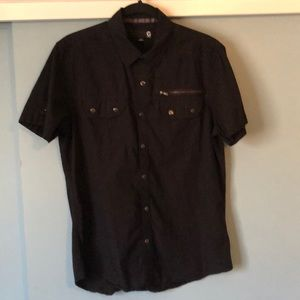 G by Guess Mens Short Sleeve Button Down M